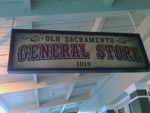 Old Sac Signage 300x225 How To Build Business Via Old Sacramento, Horse & Buggy & Social Media